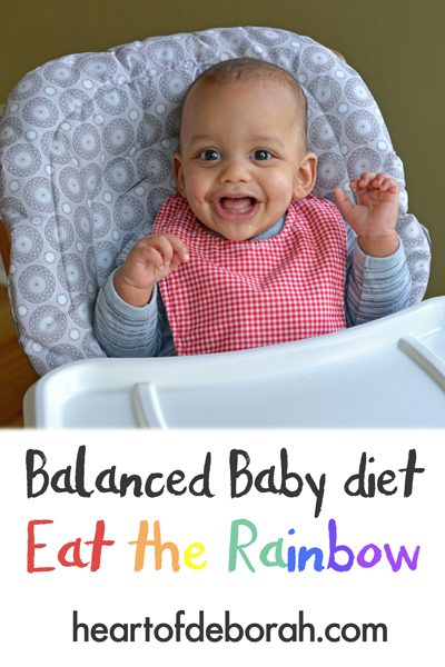 Sample menu for a healthy diet for baby! See what we are feeding our baby for breakfast, lunch and dinner and why he is eating the rainbow.