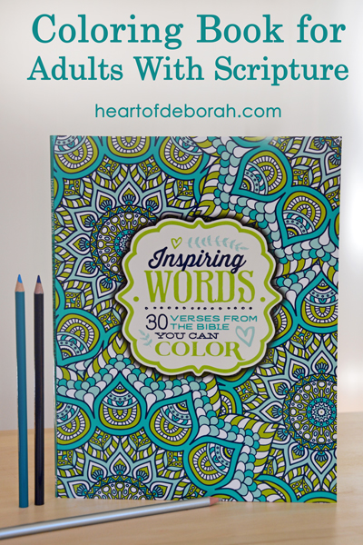 Inspiring Words Coloring Book Giveaway Heart of Deborah