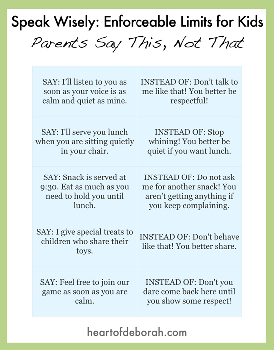 Best Parenting Posts of 2016: Tired of always yelling at your kids to behave? Try setting enforceable limits instead. This is a great parenting technique from Love and Logic.