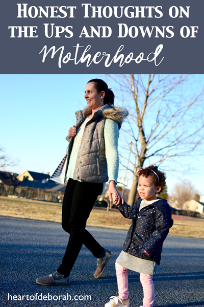 Motherhood isn't what I always dreamed it would be. Does that make me a bad mom? A Reality Check in Motherhood by Heart of Deborah