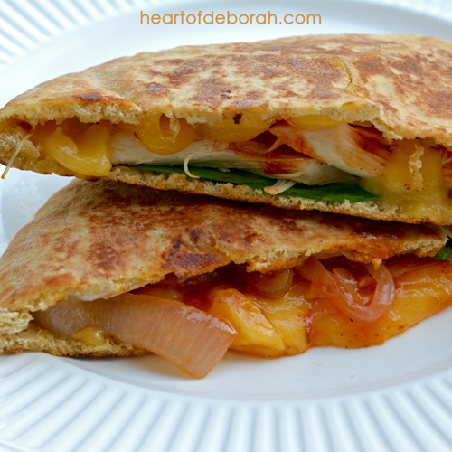 BBQ Chicken Gouda Melt Recipe. Your family will love this easy and quick grilled sandwich!