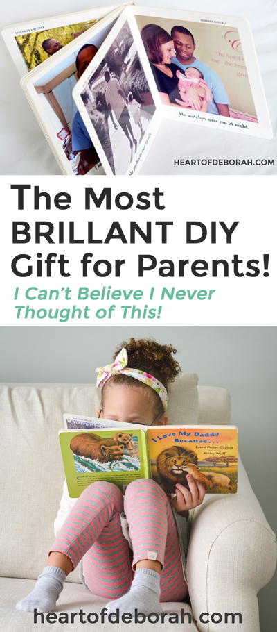 Looking for a unique DIY gift idea for mommy, daddy or the kids? Create this personalized board book as a DIY gift from kids! Perfect for Mother's Day or Father's Day.  #fathersday #giftidea #DIY #giftfordad #motherhood