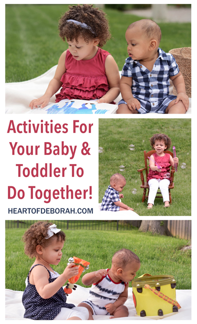 10 Baby and Toddler Activities for Sibling Play. Activities your baby and older children can do together and create a special bond.