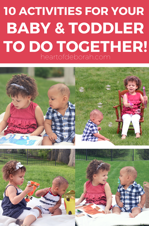 It's not easy to find activities that your kids can do together. You can encourage a sibling relationship and play with these brilliant baby and toddler activities they can play together. #kidsactivities #siblings #siblingplay #baby #toddlerplay #parenting