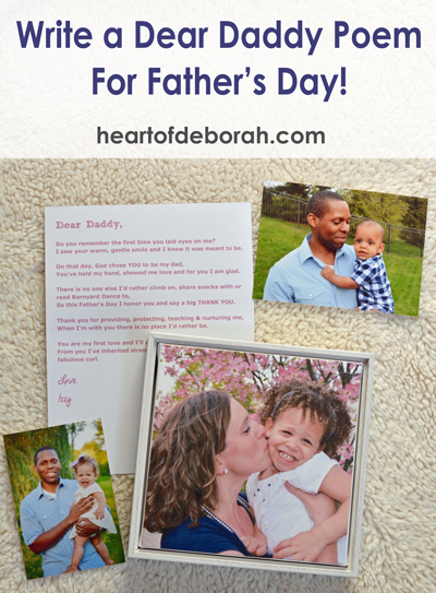 Want to create a personalized gift to honor your kid's daddy this year? Write a dear daddy poem with your kids to get everyone involved in Father's Day.