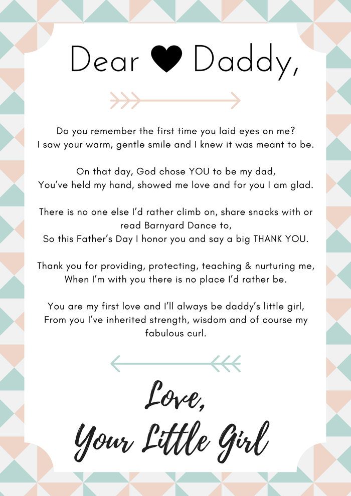 Dear Daddy Poem: Celebrate Dad with a Poem From Your KidsI Love My Dad Poems That Will Make You Cry