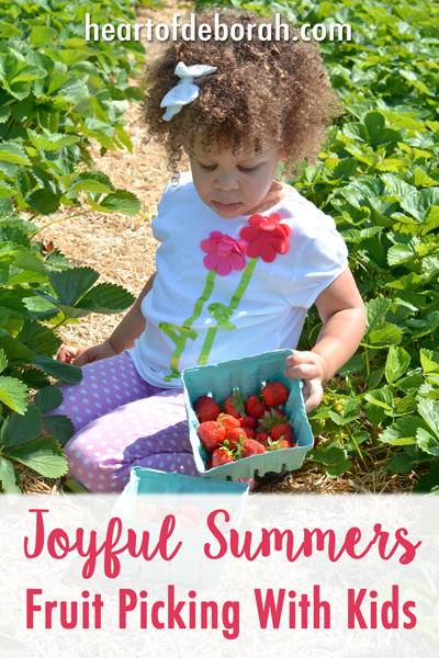 Do you have a special summer tradition with your family? Fruit picking with kids is our new summer gem! We had family fun while incorporating a low key learning experience.