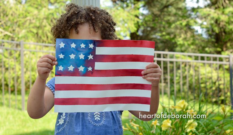 American Flag Kid's Craft