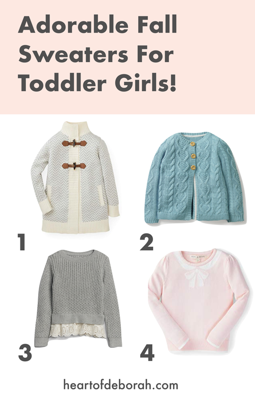 Looking for a new wardrobe for your daughter? Find these adorable fall sweaters to shop for this fall and winter!
