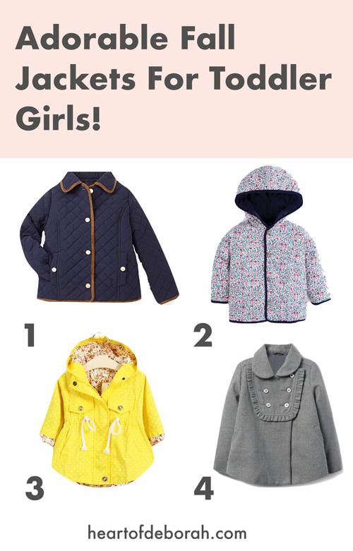 How cute are these fall jackets for a little girl? The perfect toddler fall coat!