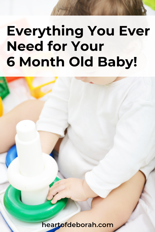 Not sure what your 6 month old baby needs? Here are my favorite baby toys, feeding essentials for your baby and more. Resources and links for new moms with small babies.