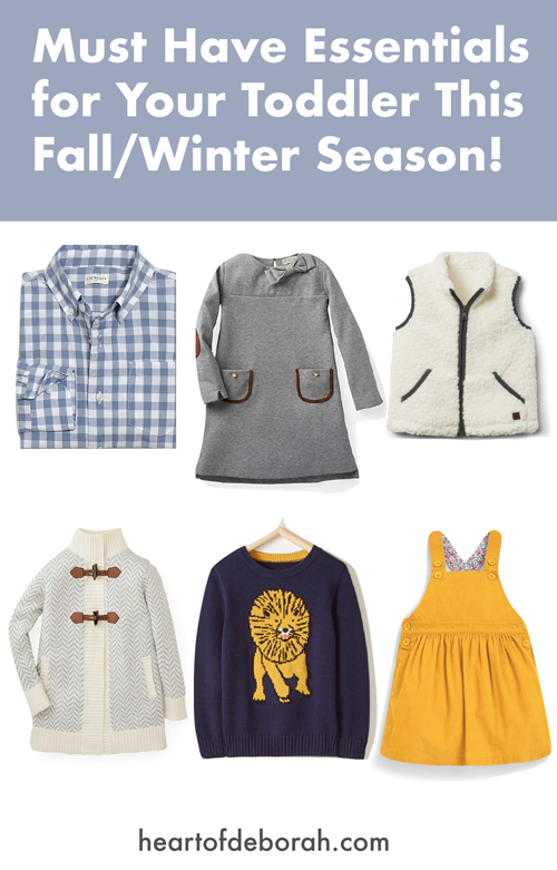The cutest fall and winter outfits this season for your toddler boy and girl! Plus three money saving tips for buying kid's clothes.