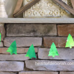 Watercolor Christmas Tree Garland