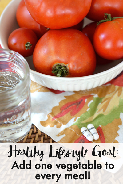 Want to get healthier? Make it a a goal to add one vegetable to every meal. Read about other easy healthy lifestyle changes I'm making to increase my energy and support a healthy immune system.