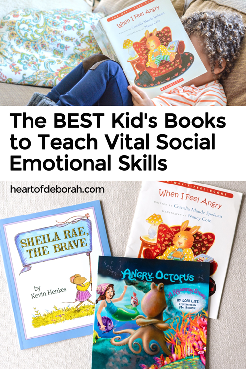 Books are a great way to teach your children! Find a list of 20 books to teach your child important social skills, empathy, how to overcome fear and more. Read books together to build their emotional intelligence!