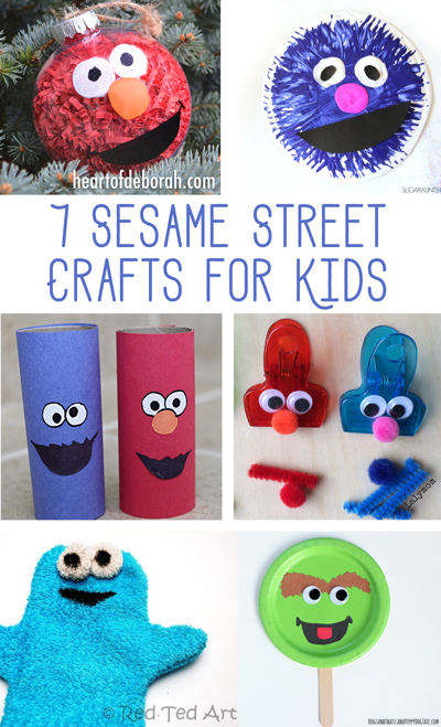 Do you have a preschooler who loves Elmo? Then they will love making these 7 fun Sesame Street crafts for kids! Make their favorite Sesame characters with these fun and easy to make crafts.