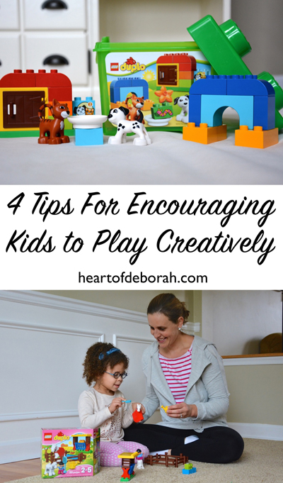 Looking to maximize playtime with your child? Here are 4 ideas for encouraging kids to play creatively and engaging your child in imaginative play!