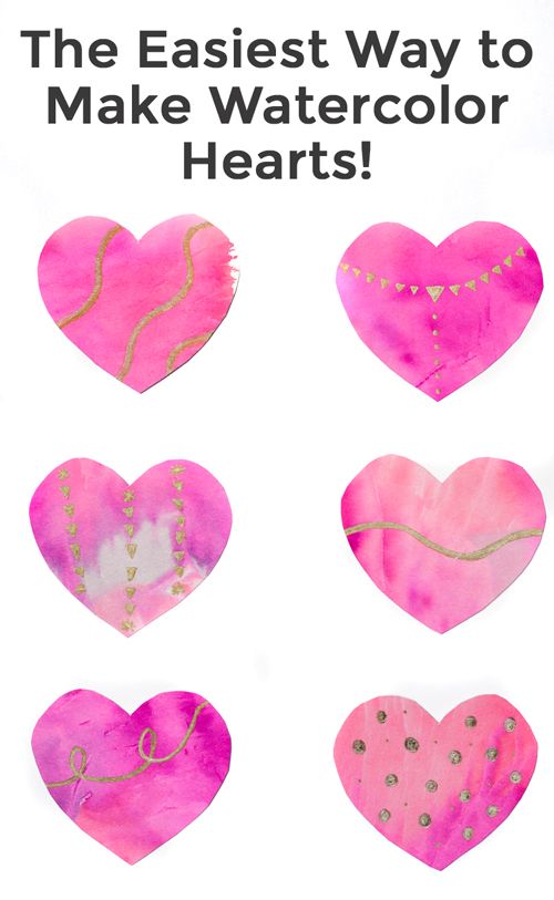 Looking for a simple heart craft for kids? Here is a fun and simple kids craft to make watercolor hearts. You can use the watercolor heart as a decoration for Valentine's Day or as bedroom decor! What an adorable craft!