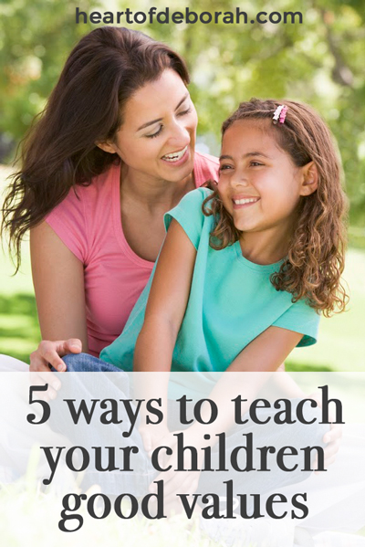 Here are 5 practical and easy ways to raise children with good values. We all want to be intentional in our parenting and give our kids the best chance at a happy and successful life. Passing down good morals to your kids is one way to do this!