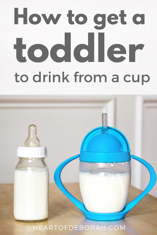 Do you want to make the transition from bottle to cup, but your toddler is refusing? Try these tips from moms to make a smoother transition for your baby!