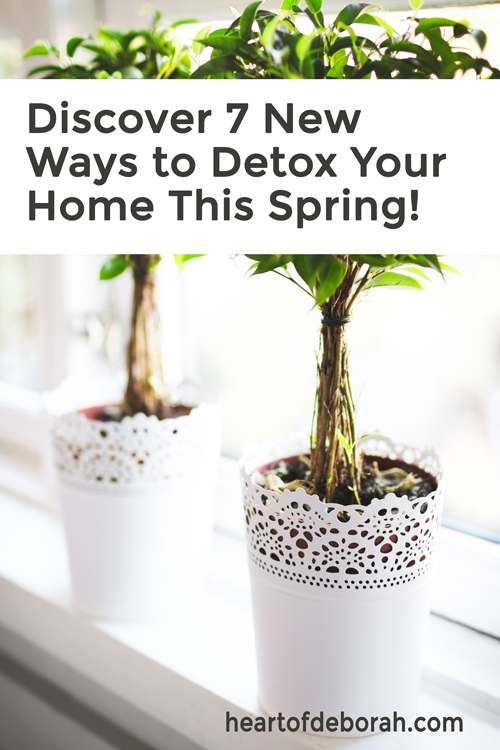 Have you started your spring cleaning yet? Here are 7 simple and effective ways to detox your home this spring. Create a healthier lifestyle for your family! #springcleaning #organization #homemaking #detox
