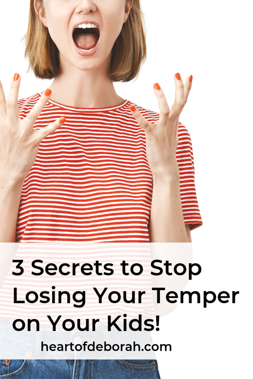 Learn to become a more patient mom! You don't need to keep losing your temper. Find practical ways to change your behavior and stop losing it!