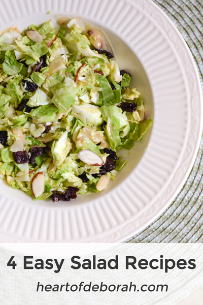 """As a mom with young kids I'm always looking for """"easy"""" and quick recipes. These easy salad recipes don't take long to make, but are so delicious!"""
