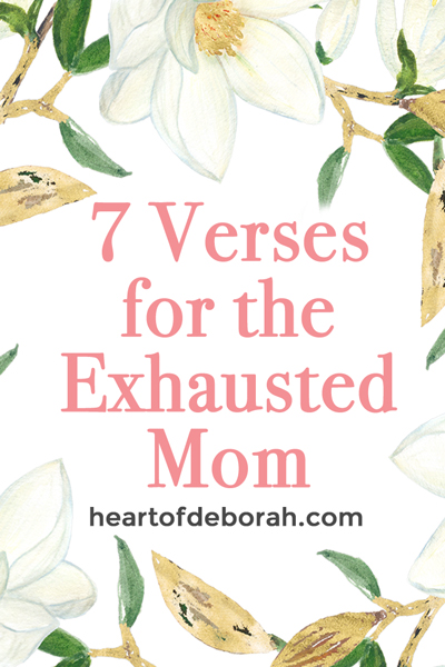 Are you an exhausted mom? Being a parent is hard! Instead of losing your temper, remind yourself of God's promises with these 7 verses on comfort and peace.