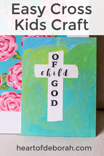 Easy Cross Craft For Preschoolers Faith Based Art Project For Kids