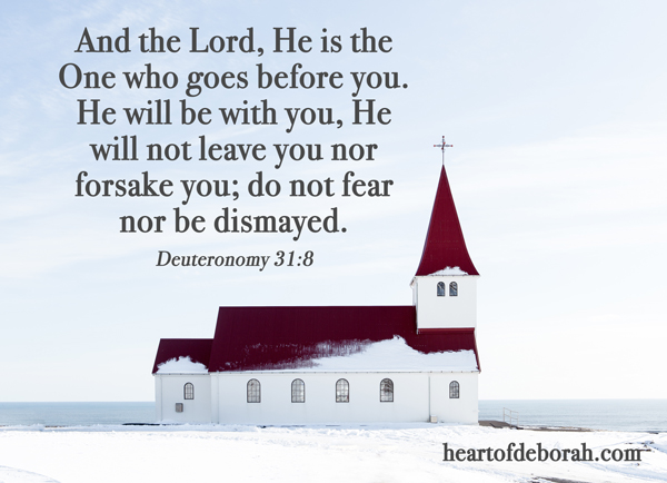 And the Lord, He is the One who goes before you. He will be with you, He will not leave you nor forsake you; do not fear nor be dismayed.
