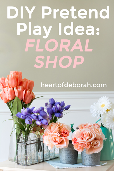 What a fun kids activity! Make your own pretend play flower shop with these directions. Your toddler will love this center.
