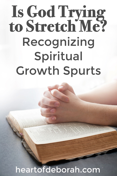 Feel like you are in a rut? Or like you are stretched and you aren't sure what is happening? Recognize it's a spiritual growth spurt. Then embrace it, seek more of God and find your breakthrough.