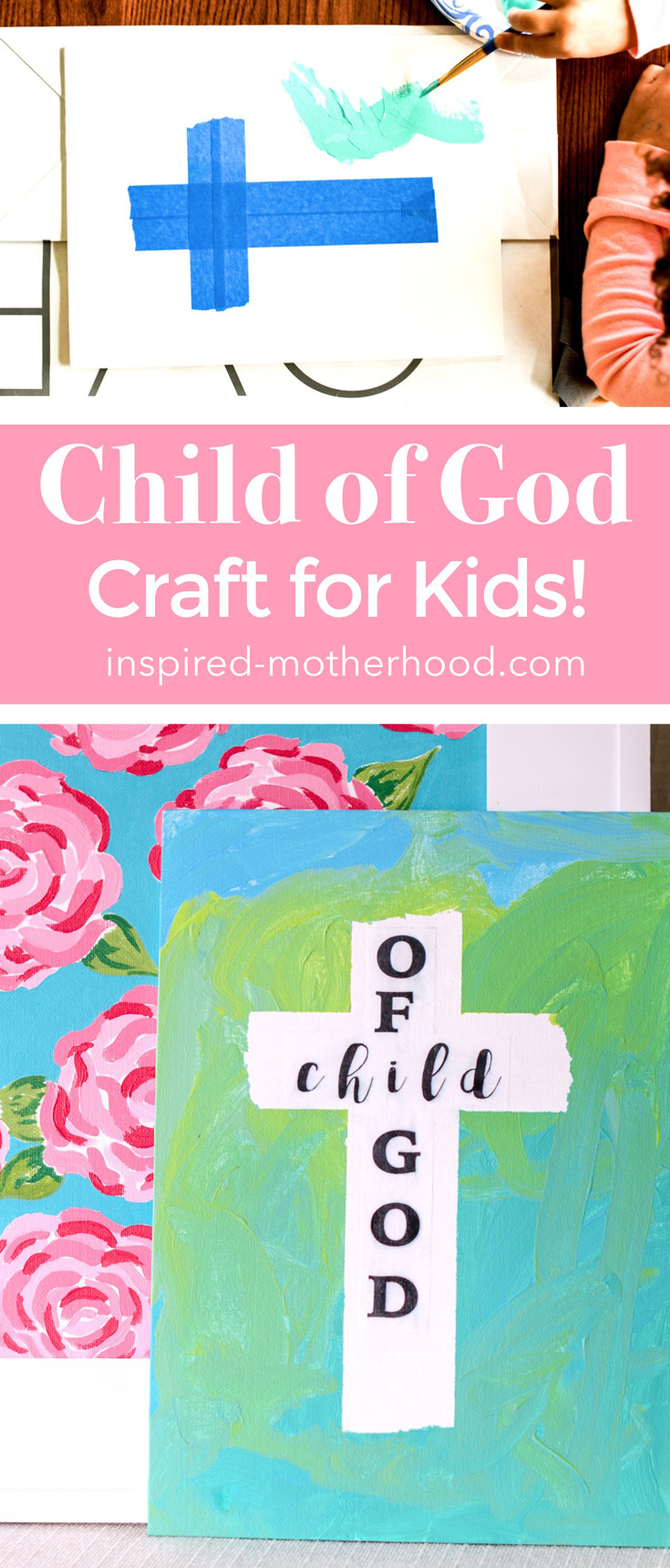 What a beautiful faith based craft your kids to DIY! They will love painting this easy cross craft.