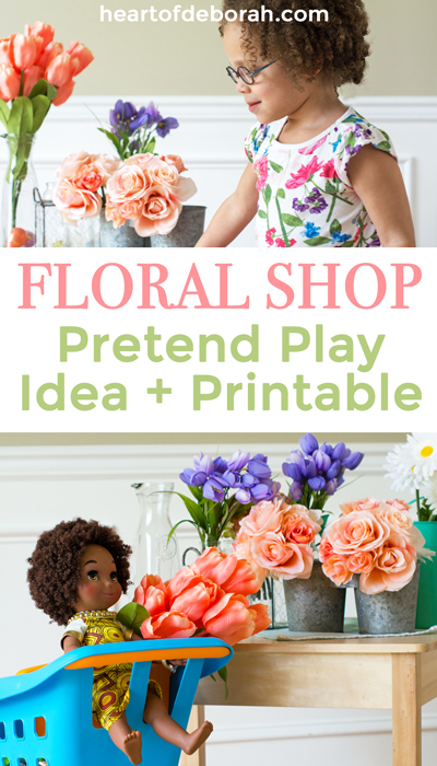 This flower shop is such a great idea! Make your own pretend play center easily with these directions and free printables.