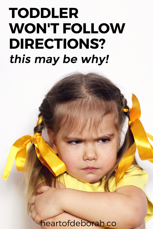 Tired of yelling at your toddler to get them to follow directions? There may be a hidden reason why they are struggling to cooperate! Find out what it is here. #parenting #positiveparenting #toddler #motherhood #discipline