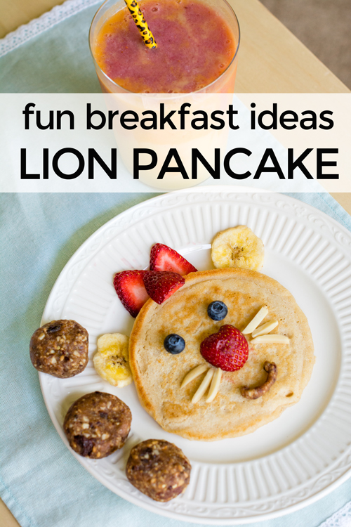 Encourage healthy eating and have a blast with these Disney Junior fun breakfast ideas! Your kids will love joining the Lion Guard characters while eating their lion cub pancakes and pride rock energy balls while sipping their sunrise smoothie. Healthy snacks and a fun summer idea.