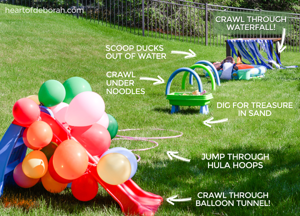 Looking for a fun children's activity this summer? Make an obstacle course for kids in your own backyard! Here are 6 easy and fun obstacles for young kids to enjoy. AD