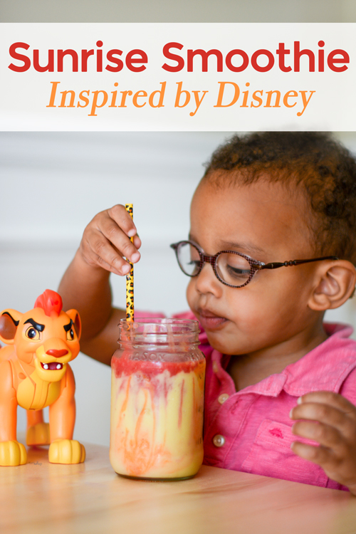 Encourage healthy eating and have a blast with these Disney Junior snack ideas! Your kids will love joining the Lion Guard characters while sipping their African sunrise smoothie. Healthy snacks and a fun summer idea.
