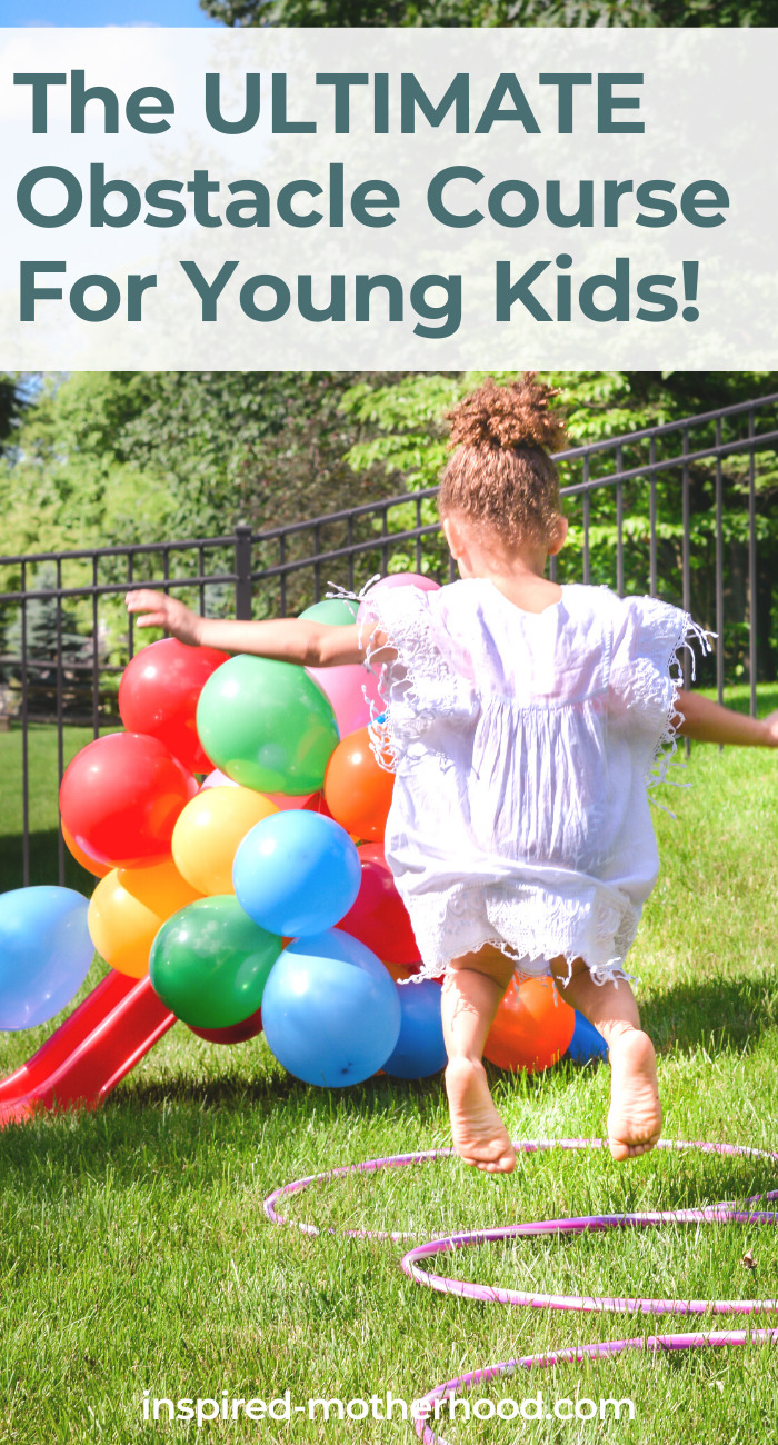 Your kids will love this backyard obstacle course! It's easy to set up with item from the dollar store and your kids will love playing outside hopping and skipping around.