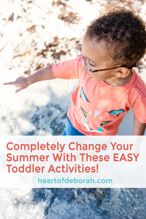 Change your summer with these list of easy kid's activities!! You can print the list of 30+ activities for your fridge. #summer #toddlerlife #SAHM