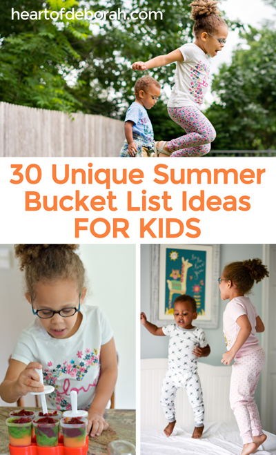 Looking to celebrate the last days of summer? Here is an awesome end of summer bucket list for kids!