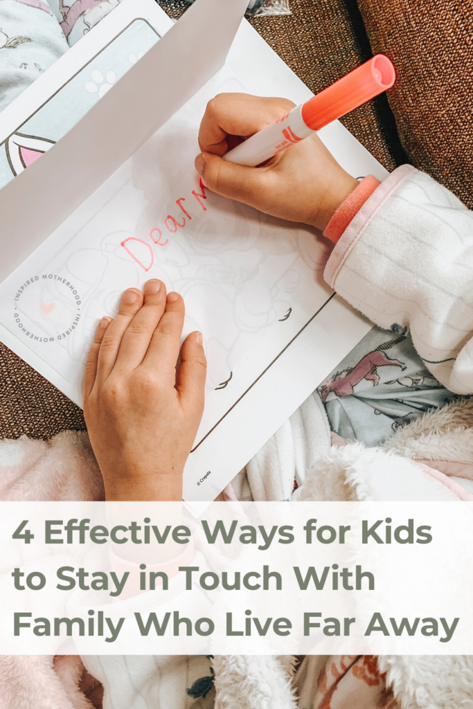 Here are 4 effective ways for kids to stay in touch with family who live far away. Tips on how to deal with long distance family relationships.