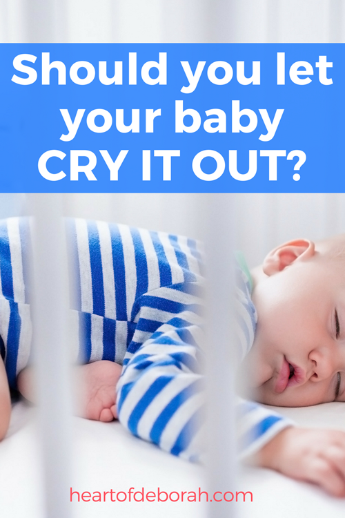 My Baby Won't Sleep: Should You Let Your Baby Cry It Out? #parenting #baby #sleeptraining