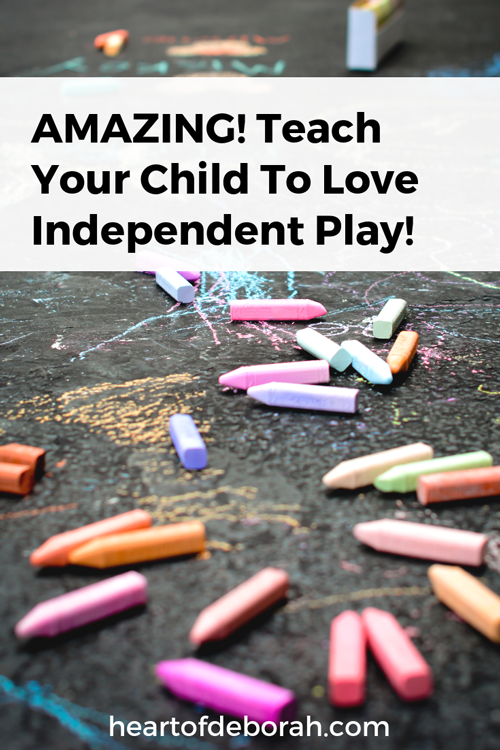 Great tips for the child who struggles to play alone! Also some major benefits of having unstructured play time in your toddler's schedule.