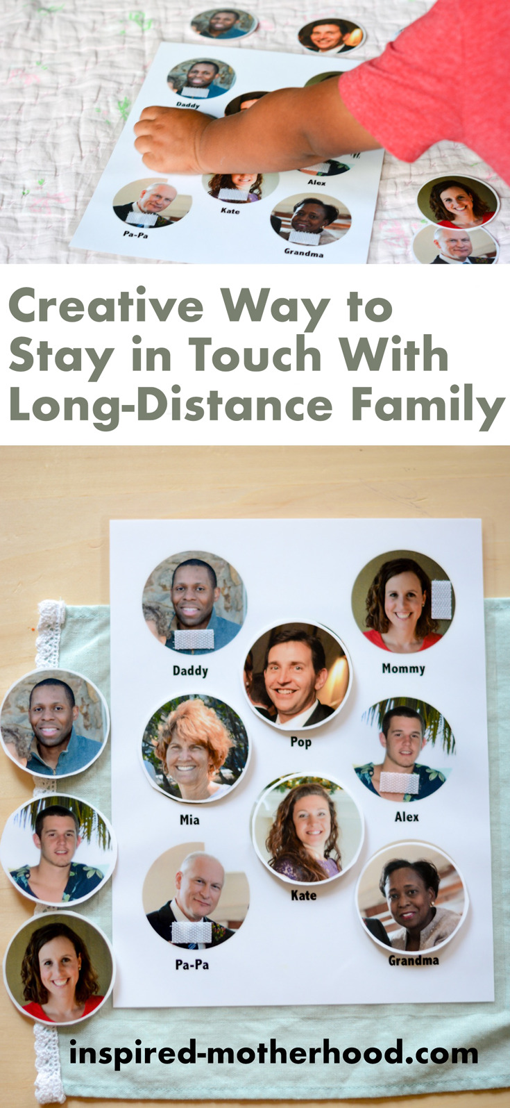 What a creative way to stay in touch with family who lives far away! Make this kid's activity to help build long-distance family relationships.