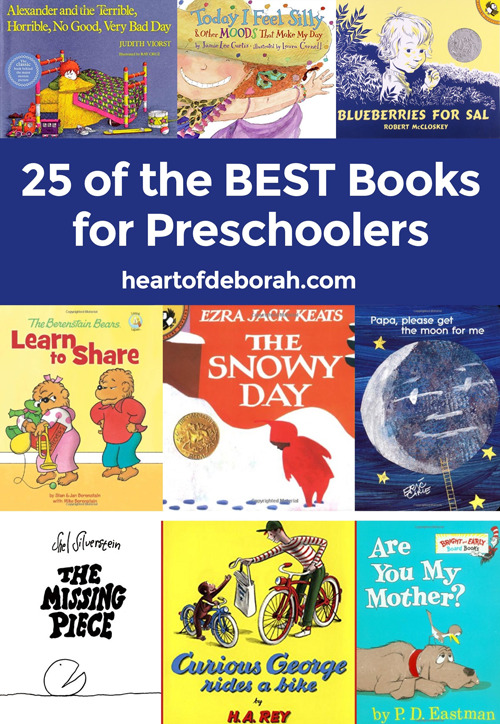 Add these top 25 Books for Preschoolers to your personal library. This list includes diverse books for learning, social emotional development and laughter for your preschool children.