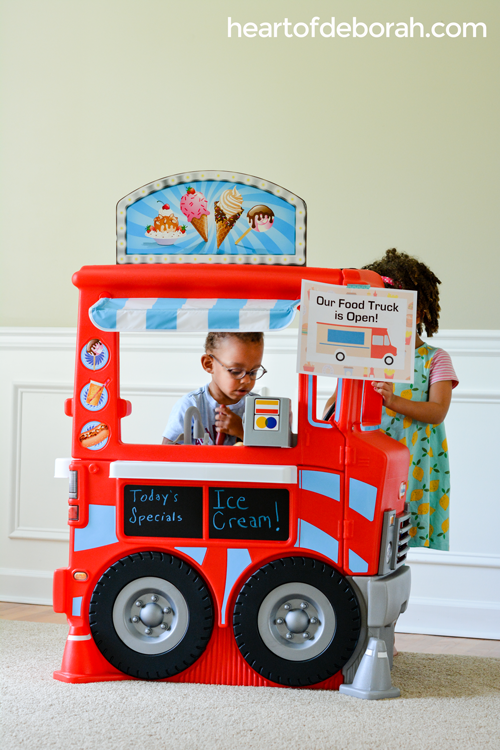 7 EASY dramatic play ideas to set up in your own playroom. Each pretend play center comes with free printables.