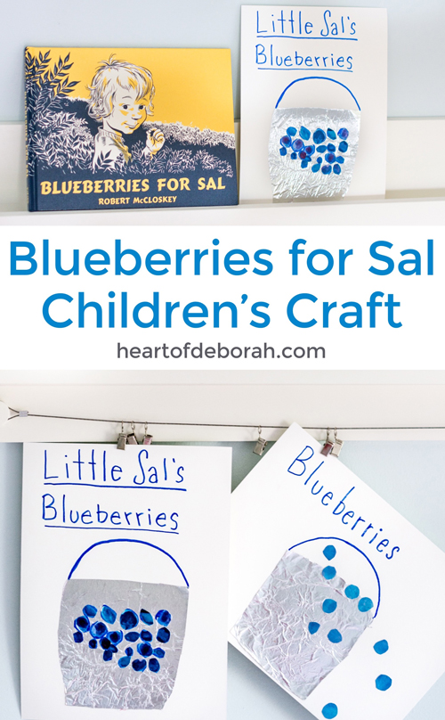 Looking for an educational kids craft? This kid's activity is perfect for your preschooler! Read the classic book Blueberries for Sal and craft your own blueberry pail.