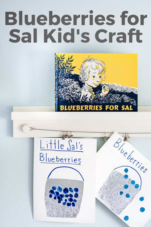 Blueberries for Sal is a classic children's book for preschoolers. This easy kid's craft pairs perfectly with the book. Create your own blueberry pail for Blueberries for Sal.