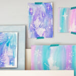 Magical Disney Frozen Craft! White Crayon Watercolor Art